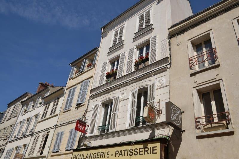 Francia, la ciudad pintoresca de Pontoise en Val d Oise imagen de archivo libre de regalías