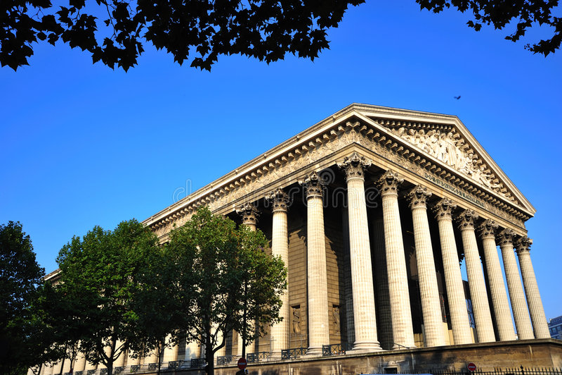 Francia; París; la iglesia de Madeleine fotografía de archivo libre de regalías