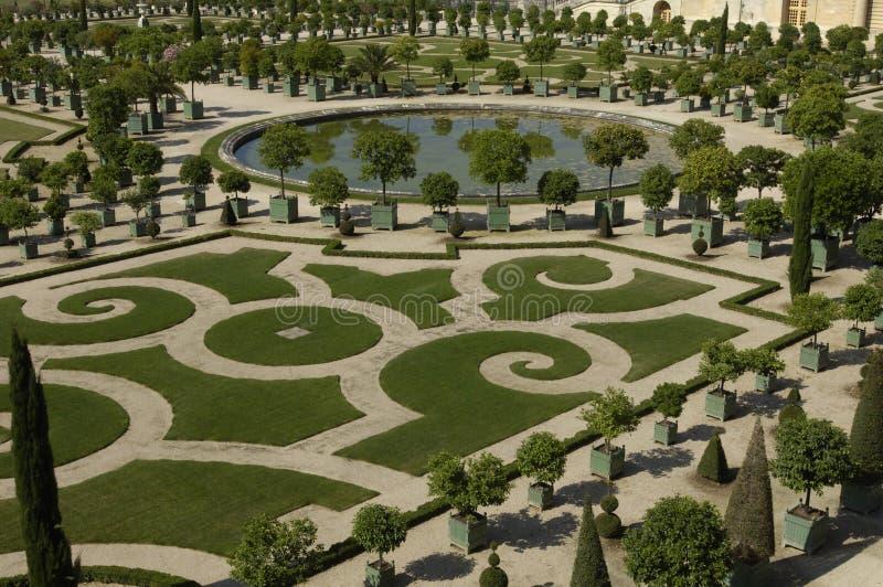 Francia, parque de palacio de Versalles fotos de archivo