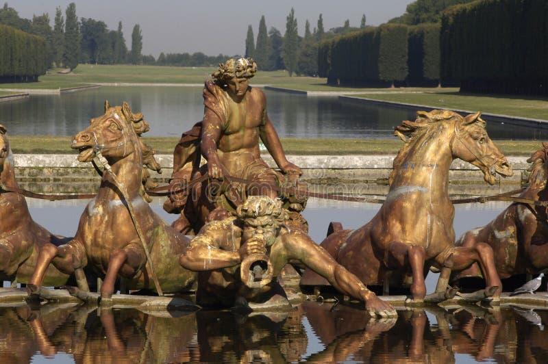 Francia, parque de palacio de Versalles imagen de archivo