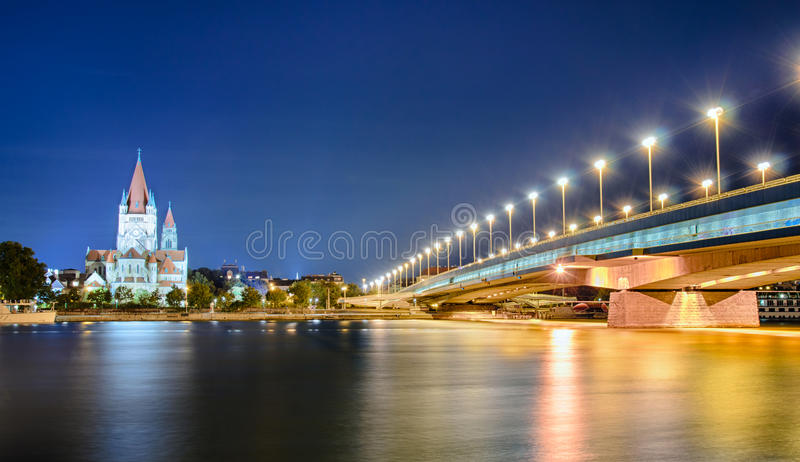 Francis of Assisi Church, Vienna royalty free stock images