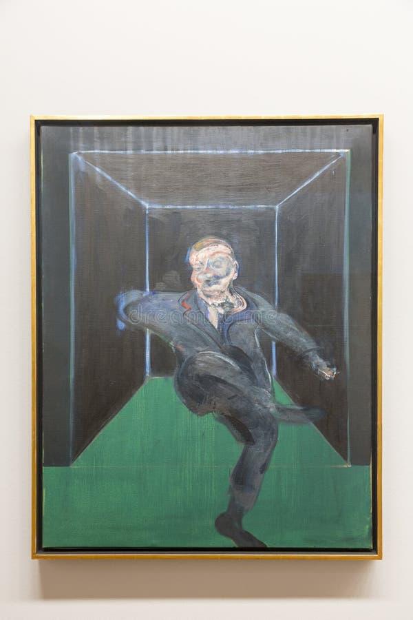 Francis Bacon - bij het museum van Albertina in Wenen stock afbeelding
