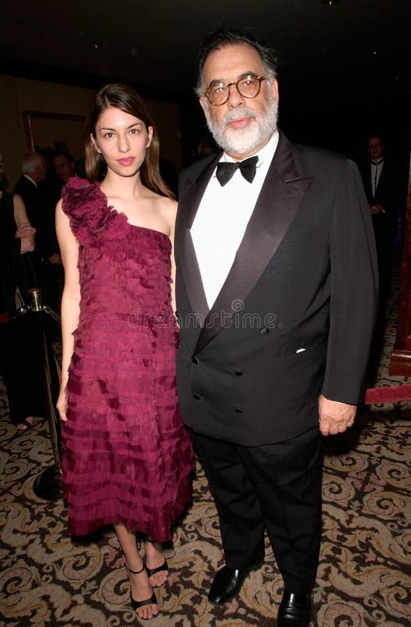 Francis Ford Coppola, Sophia Coppola fotografia stock libera da diritti