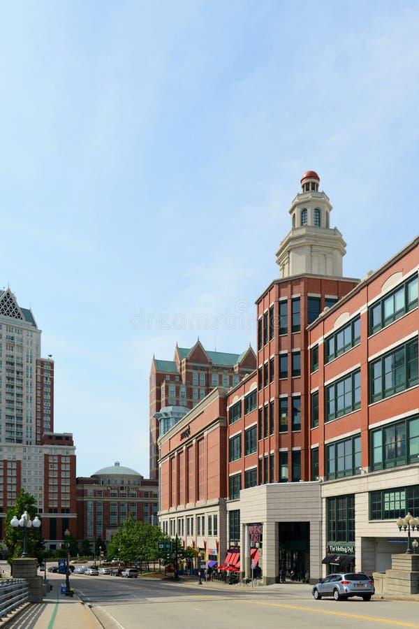 Francis Street, provvidenza, RI, U.S.A. fotografia stock libera da diritti