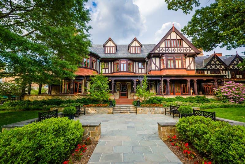 Francis Xavier Knott Humanities Center in Loyola University Maryland, in Baltimore, Maryland royalty-vrije stock foto