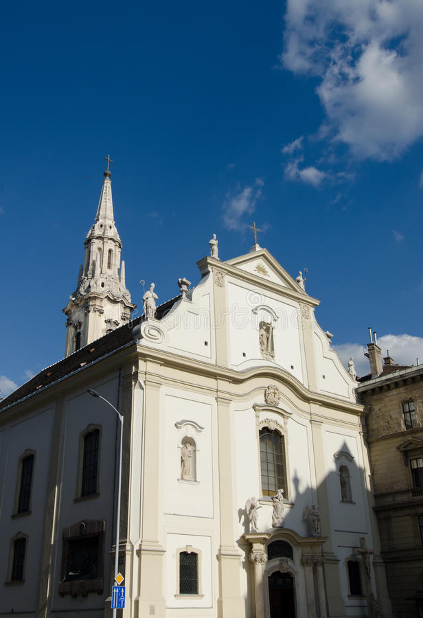 Franciscan church, Budapest stock photo