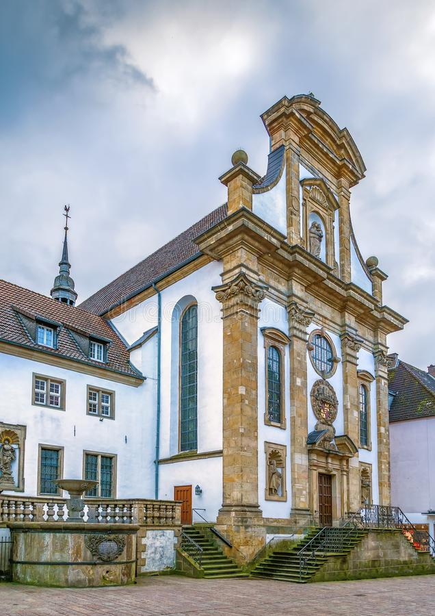 Franciscan Monastery, Paderborn, Germany. Franciscan church of St. Joseph in Paderborn, Germany stock images