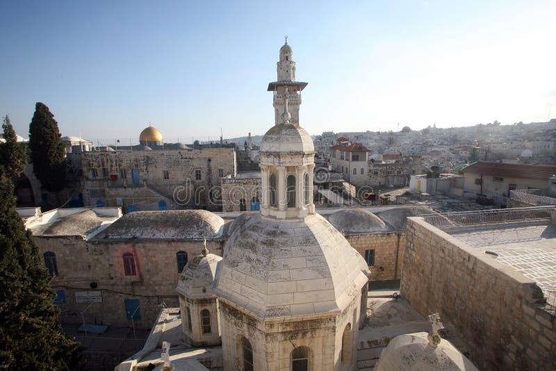 Franciscan Kapel van de Veroordeling in Jeruzalem stock afbeelding