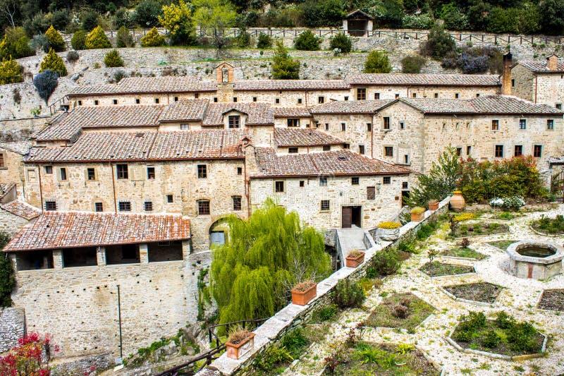 Franciscan Kluis in Cortona, Italië royalty-vrije stock foto's