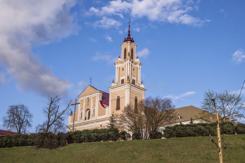 Franciscans kyrka och kloster i Hrodna royaltyfria bilder