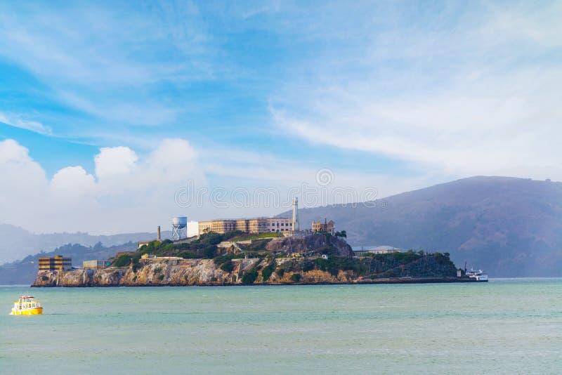 Francisco bay wyspę alcatraz San fotografia stock