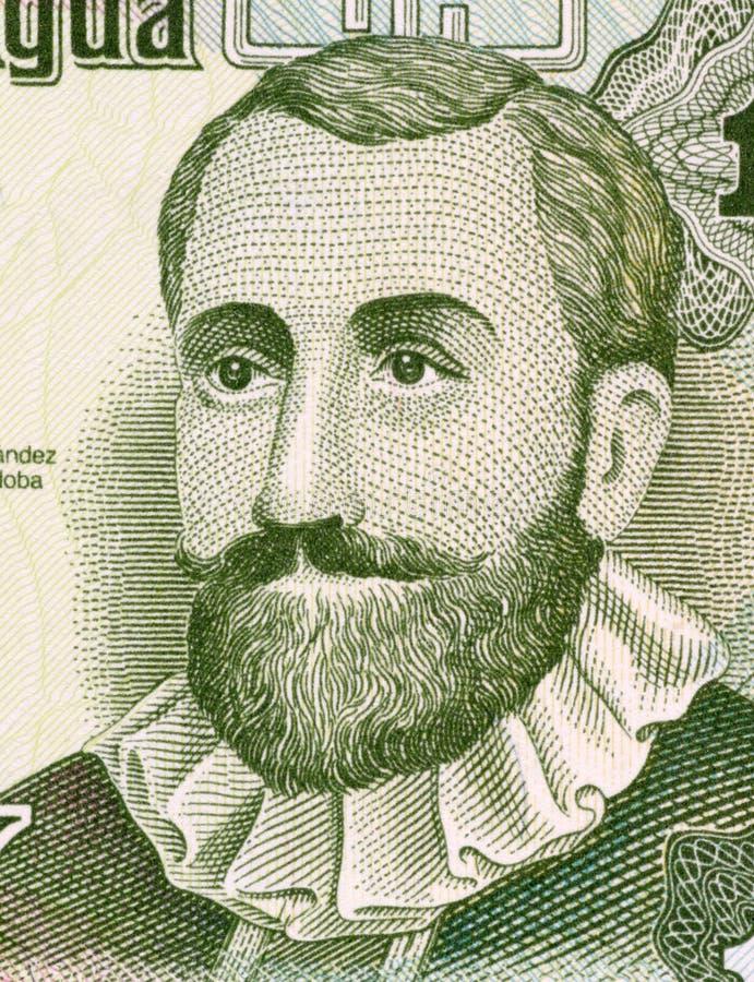 Francisco Hernandez de Cordoba arkivbilder