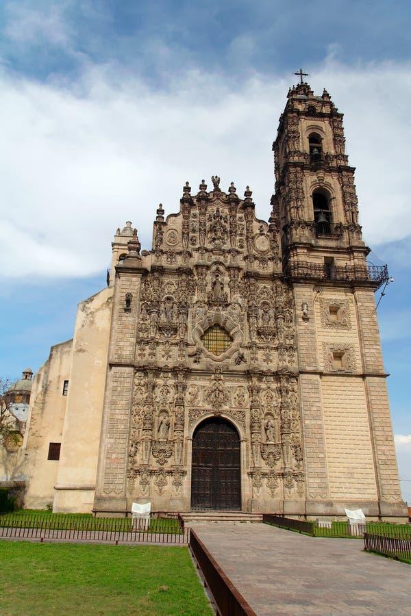 Francisco kościoła San tepoztlan Javier zdjęcie royalty free