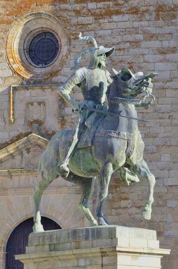 Francisco Pizarro statua zdjęcie royalty free