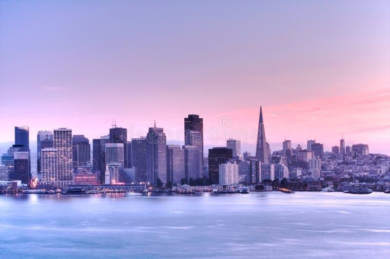 Francisco-Skyline .HDR lizenzfreie stockfotografie