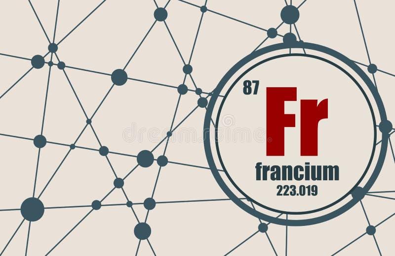Francium chemical element. vector illustration