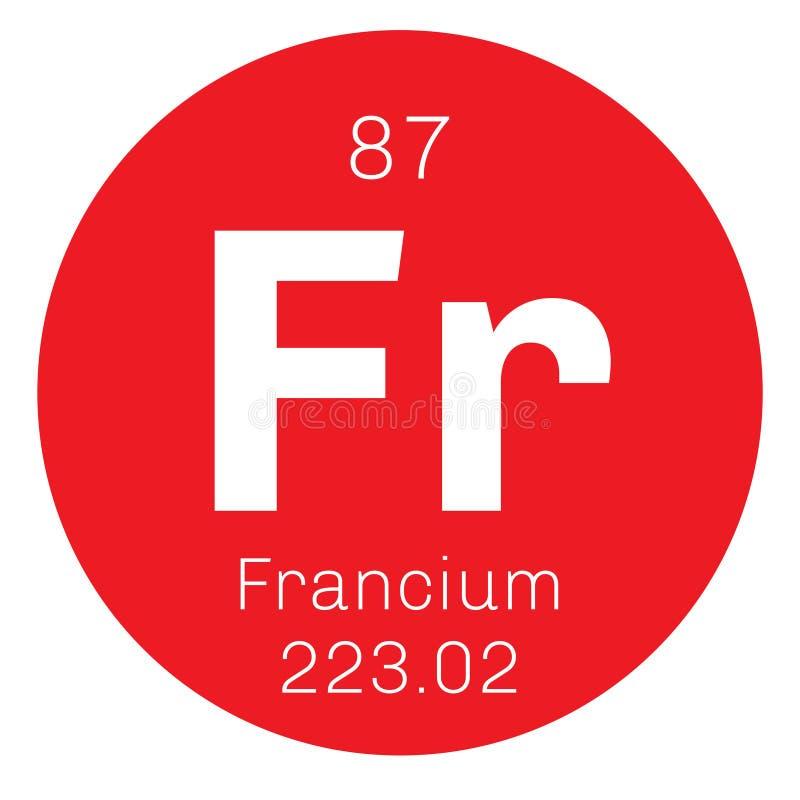 Francium chemisch element royalty-vrije illustratie