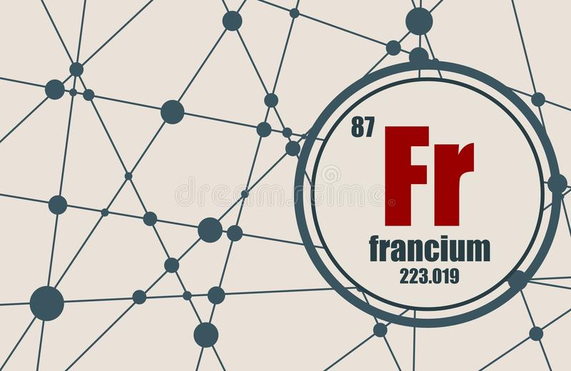 Francium chemisch element vector illustratie