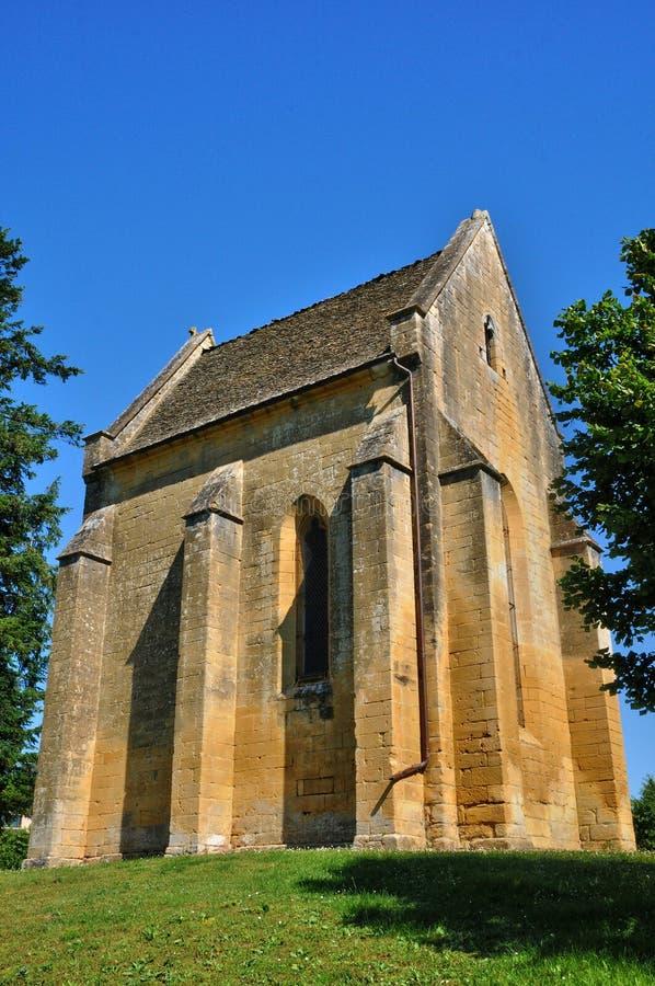 Francja, Cheylat Świątobliwi Genies w Dordogne kaplica zdjęcie stock