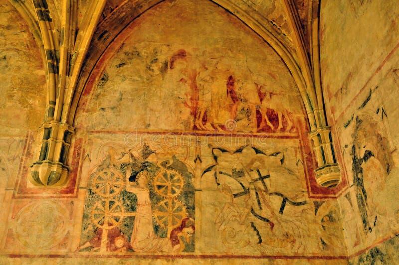 Francja, Cheylat Świątobliwi Genies w Dordogne kaplica obraz royalty free