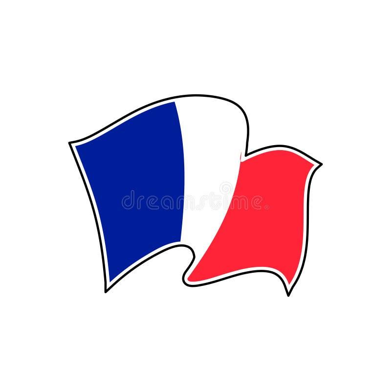 Francja falowania flaga r?wnie? zwr?ci? corel ilustracji wektora paris royalty ilustracja