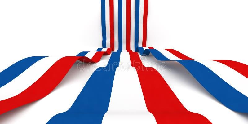 Francja flaga royalty ilustracja