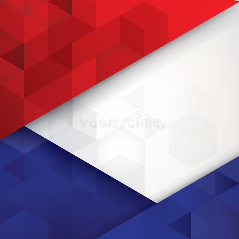 Francja flaga barwi abstrakcjonistycznego tło royalty ilustracja