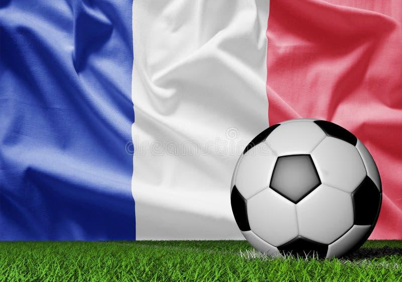 Francja flaga i piłki nożnej piłka royalty ilustracja