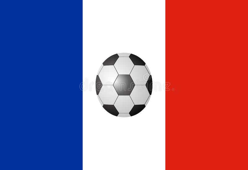 Francja flaga z piłki nożnej piłką zdjęcie royalty free
