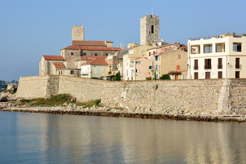 Francja, francuski Riviera, Antibes, stary miasteczko, katedra i Picasso muzeum, fotografia stock