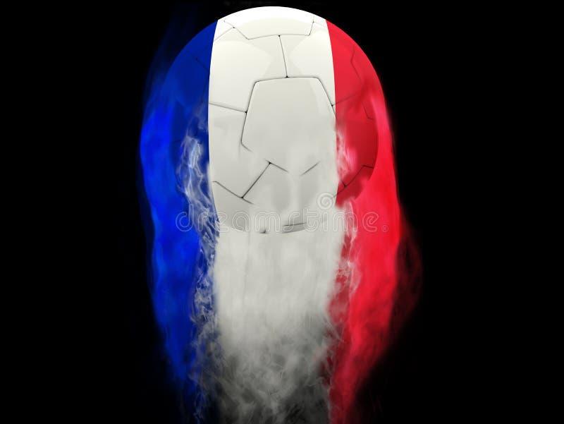 Francja futbol - dymów śladów skutek ilustracji