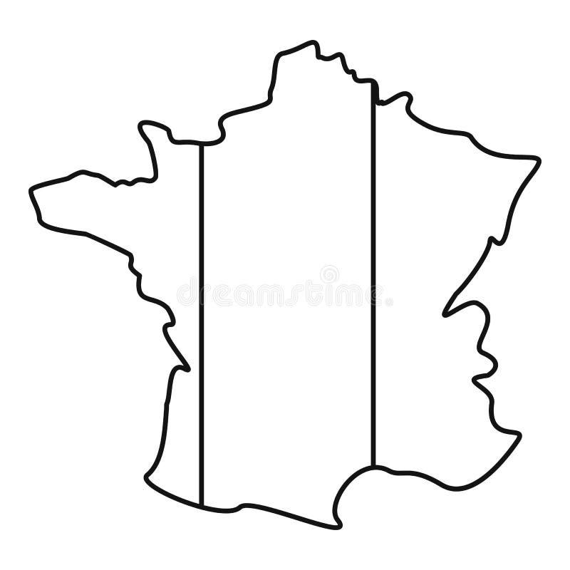 Francja ikona, konturu styl ilustracja wektor