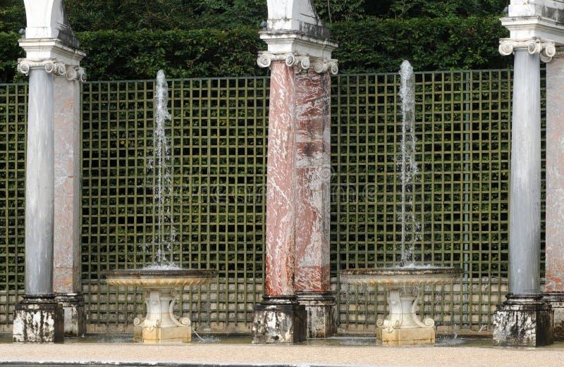 Francja, kolumnada gaj w Versailles pałac obraz royalty free