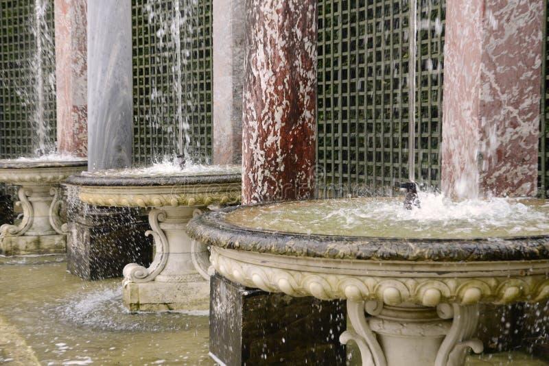 Francja, kolumnada gaj w Versailles pałac zdjęcia stock