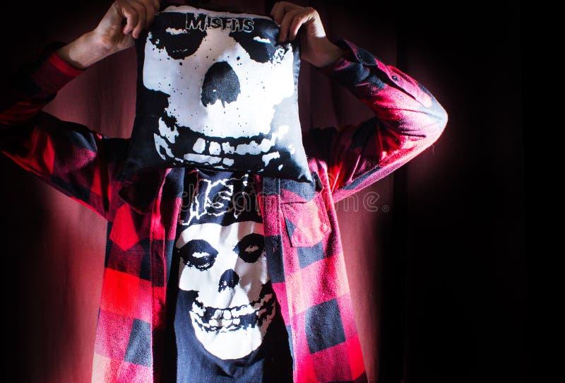 FRANCJA LE MANS, LIPIEC, - 29, 2015: Punk rock PRZY muzyką FESTI obraz stock