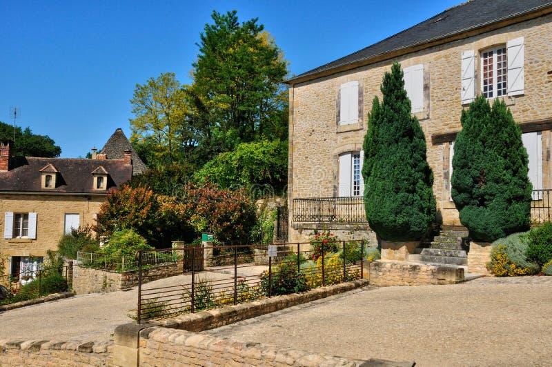 Francja, malownicza wioska Świątobliwi Genies zdjęcie stock