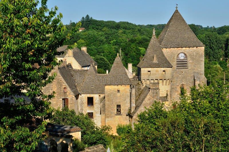 Francja, malownicza wioska Świątobliwi Genies obrazy royalty free