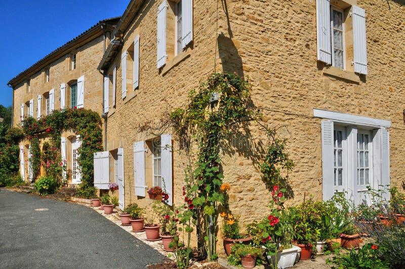 Francja, malownicza wioska Świątobliwi Genies obraz stock