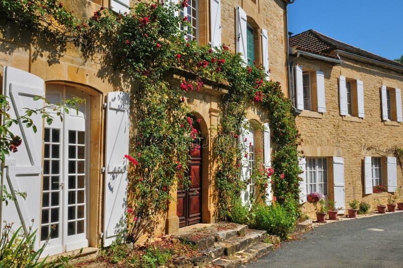 Francja, malownicza wioska Świątobliwi Genies fotografia stock