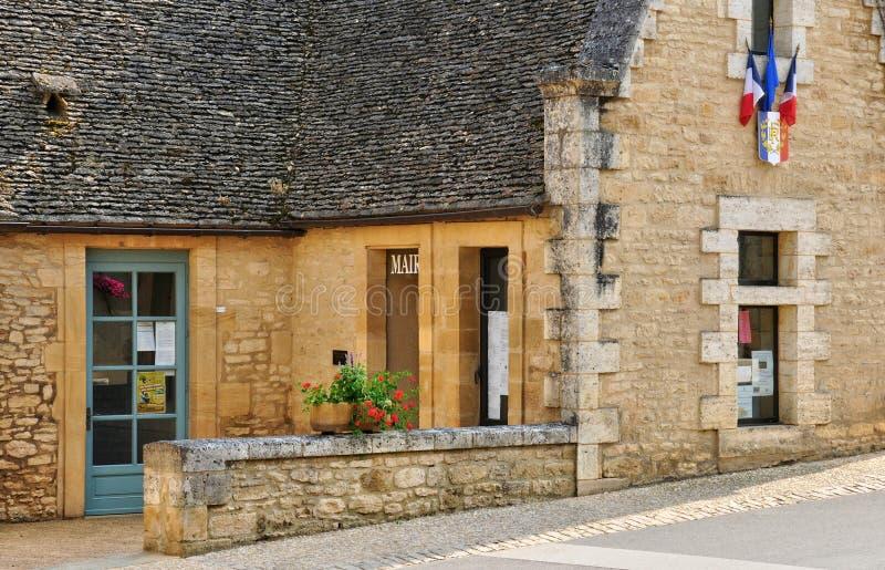 Francja, malownicza wioska Świątobliwi Genies w Dordogne zdjęcie stock