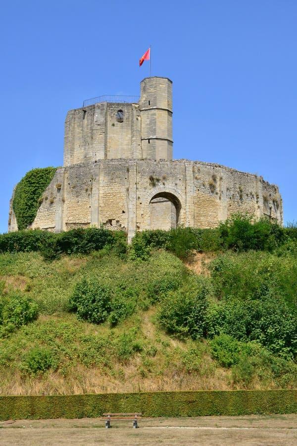 Francja, malowniczy kasztel Gisors w Normandie zdjęcia stock