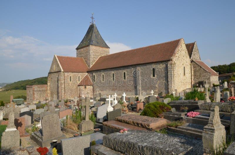 Francja malowniczy kościół Varengeville sura Mer obrazy royalty free