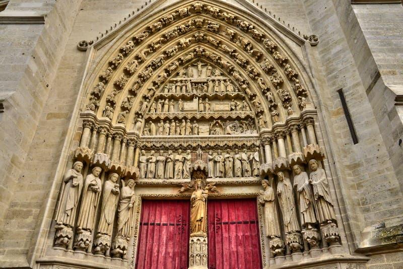 Francja malowniczy miasto Amiens w Picardie zdjęcia stock