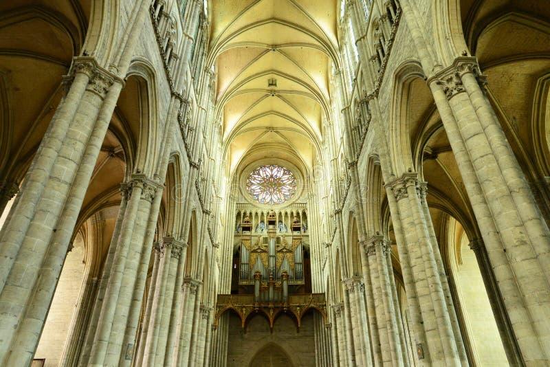 Francja malowniczy miasto Amiens w Picardie fotografia stock
