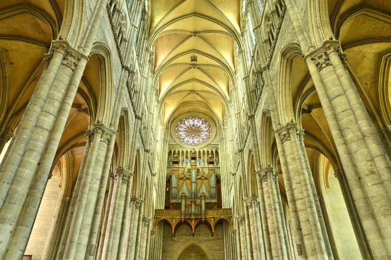Francja malowniczy miasto Amiens w Picardie zdjęcia royalty free