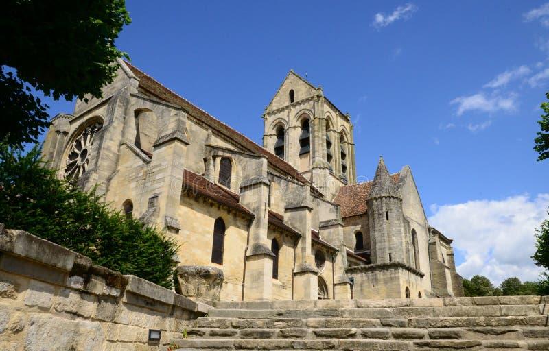 Francja malowniczy miasto Auvers sura Oise obraz royalty free