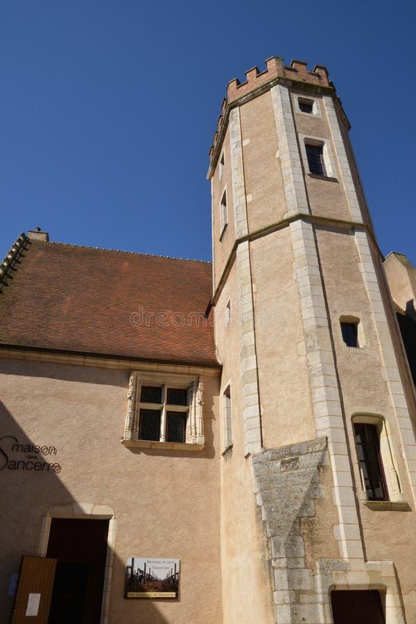 Francja, malowniczy miasto Sancerre w Cher zdjęcie royalty free
