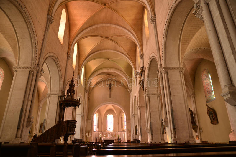 Francja, malowniczy miasto Sancerre w Cher zdjęcia royalty free