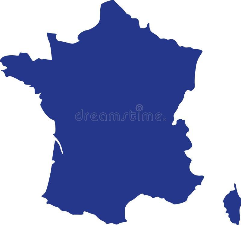 Francja mapa z Corsica ilustracji