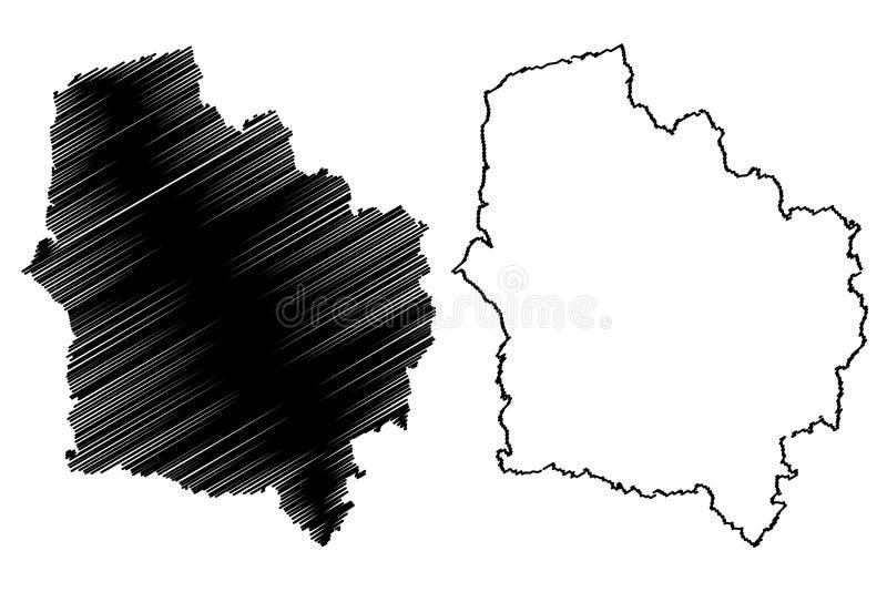 Francja mapy wektor ilustracja wektor